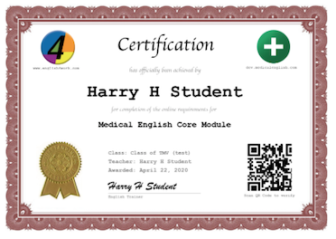 Medical English Online Course